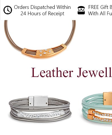 Wholesale jewellery - leather left