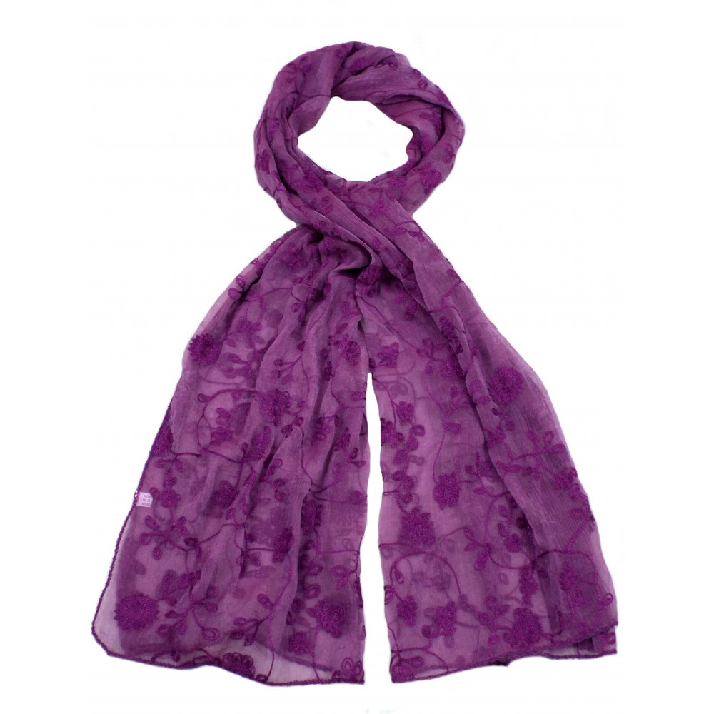 pack of 6 assorted scarves various colours from park