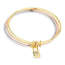 PACK OF TWO. 3 piece bangle set supplied with a bracelet box.Bracelet box.