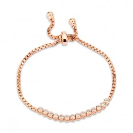 PACK OF TWO. Bracelet. Rose Gold Plated. Cubic Zirconia. Bracelet Box.