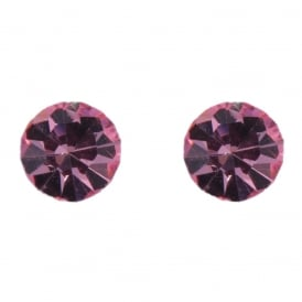 Price for Pack of Two. Pair Of Pink Crystal Earrings, Supplie boxed.