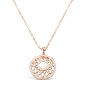 Price for Pack of Two. Rose Gold Plated Necklace with Circular Pendant. Supplied with Presentation Box.