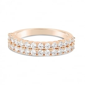 Price for Pack of Two. Rose Gold Plated Ring. Supplied with Presentation Box.