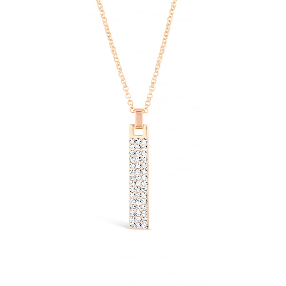 Rose Gold Plated Necklace with Crystal Stone Pendant. Matching ...