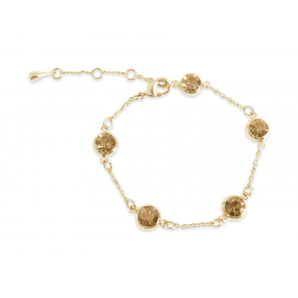 Price For Pack Of 2 Gold Plated Swarovski Crystal Bracelet B18694 With Free Gift Box