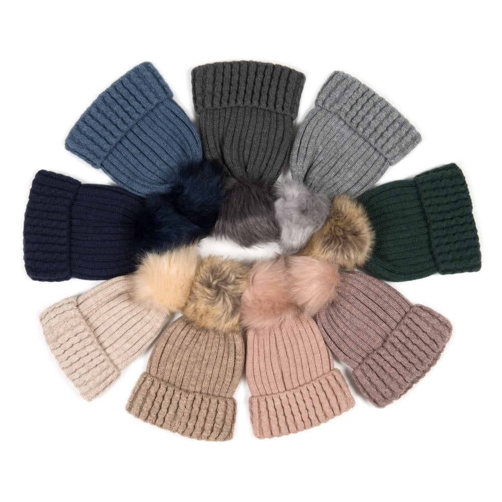 e4ff1161 Pack of 12 Pom pom hats in mixed colours.