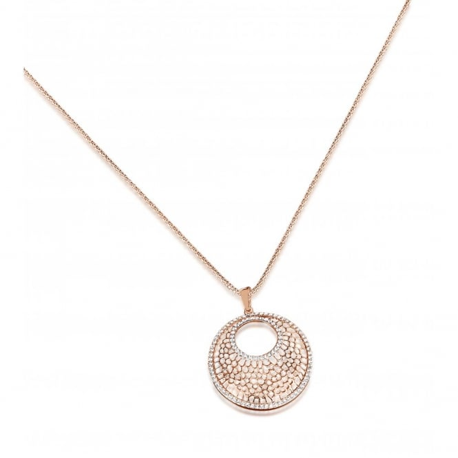 "30"" Chain Rose Gold Plated Pendant Necklace. Pouch."