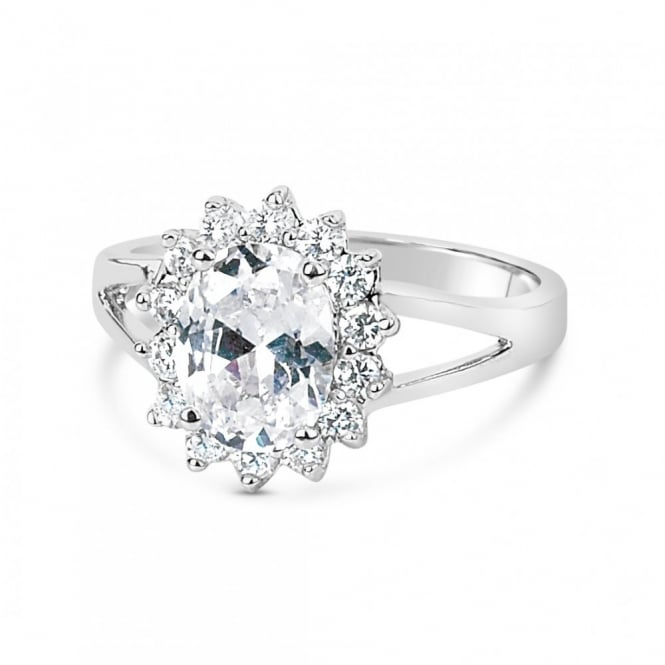 Flower Shape Cubic Zirconia Ring