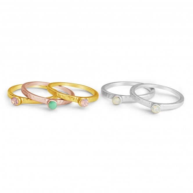 Multi Colour 5 Ring Stacker Set.