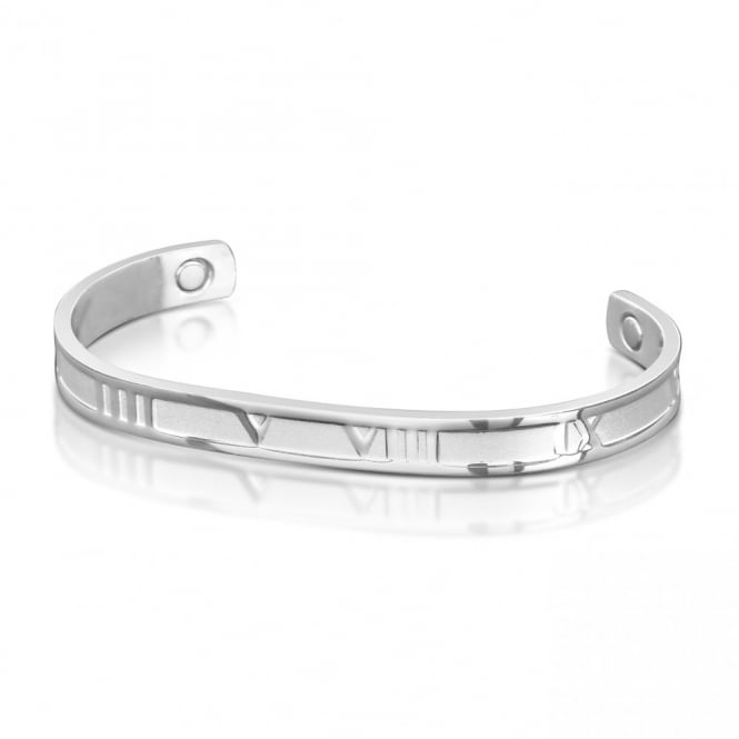 Magnetic Silver Plated Bangle