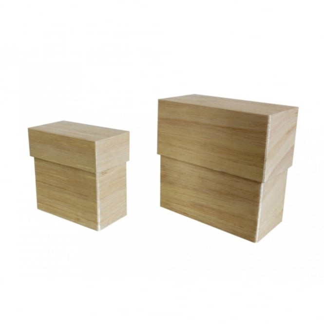 SALE Natural Rectangle Box Riser Stand. Set of 2.Large size 23cm high and smaller size 18cm high