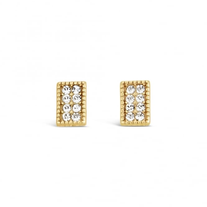 SALE PACK OF FOUR. Lovely Gold Plated Crystal Stud Earrings.