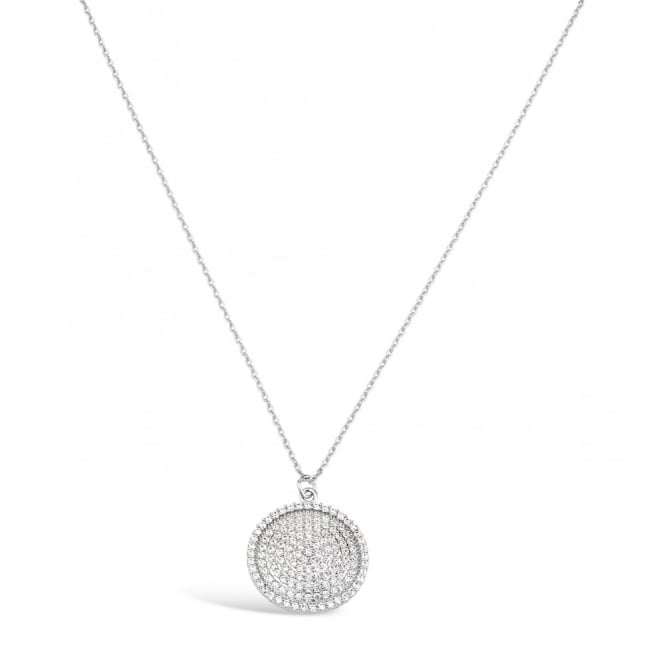 LAST STOCK REMAINING Cubic Zirconia Pendant with Rhodium Plating.