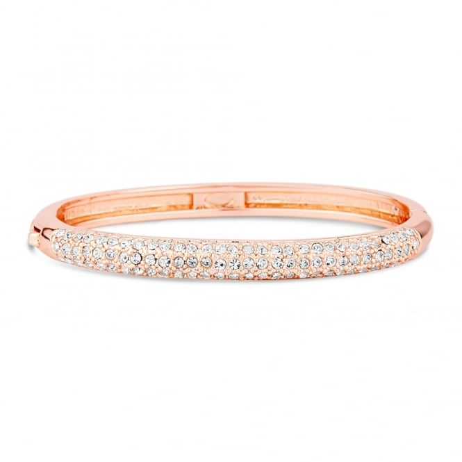 Rose Gold Plated Pave Set Crystal Stoned Bracelet.