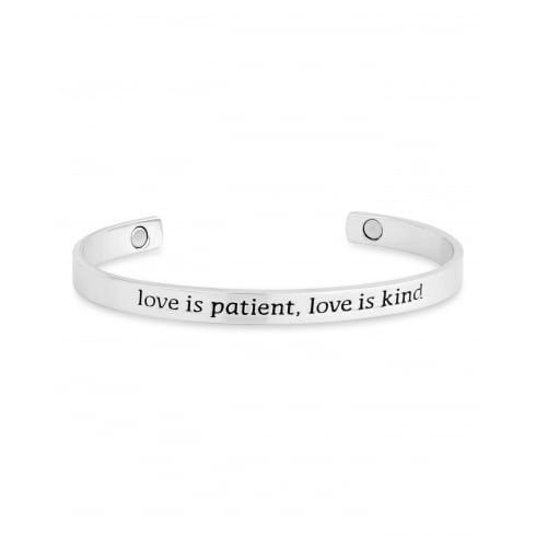 Magnetic Alloy One Size Fits all Sentiment Bracelet.