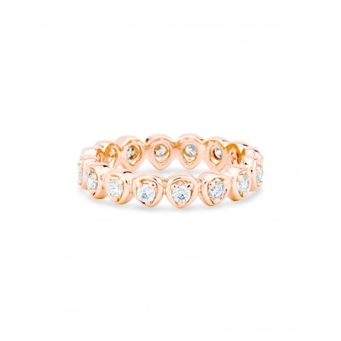 Rose Gold Plated Forever Heart Ring with Crystal Stones.