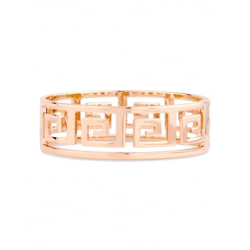 Continuous Square Design Rose Gold Plated Chunky Bracelets