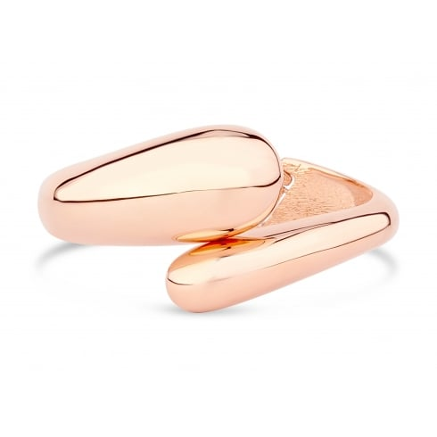 Shiny Rose Gold Plated, Stylish Hinge Bangle.