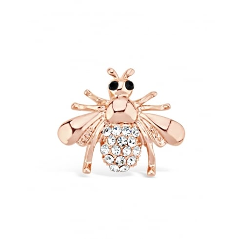 20mm width Rose Gold Plated Bumble Bee Brooch.