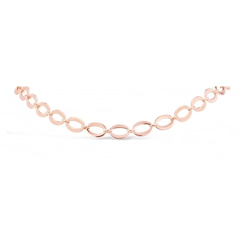 SALE! Lovely Rose Gold Plated Oval Link Necklace.