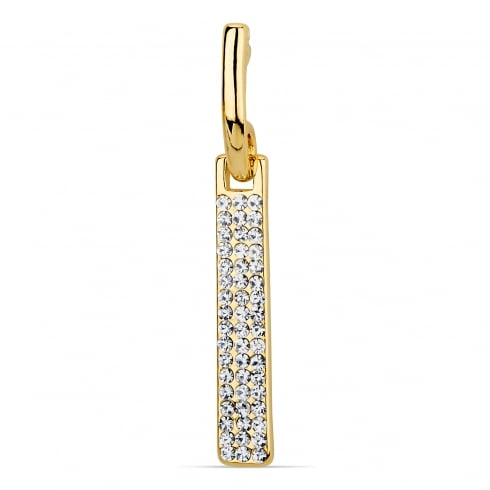 Stunning Gold Plated Crystal Pavé set Bar Drop Earring. Matching Necklace available.