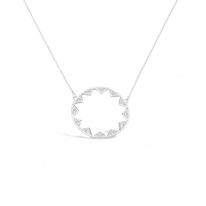 Beautiful Circular Cubic Zirconia Necklace