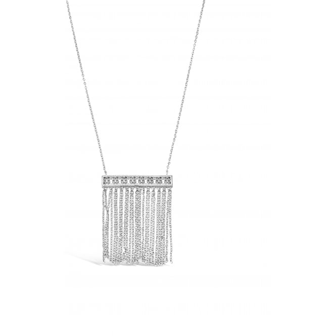 SALE PACK OF FOUR. Lovely Silver Plated Drop Tassel Necklace