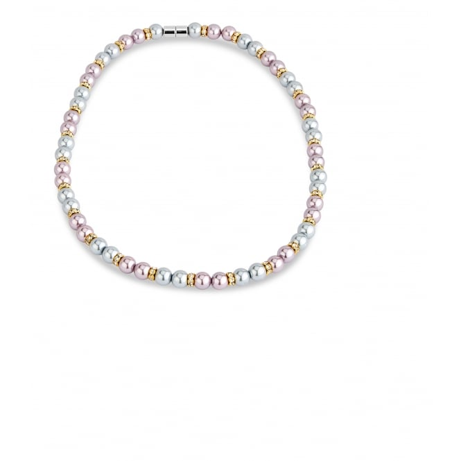 Stunning Magnetic Mixed Colour Pearl Necklace.