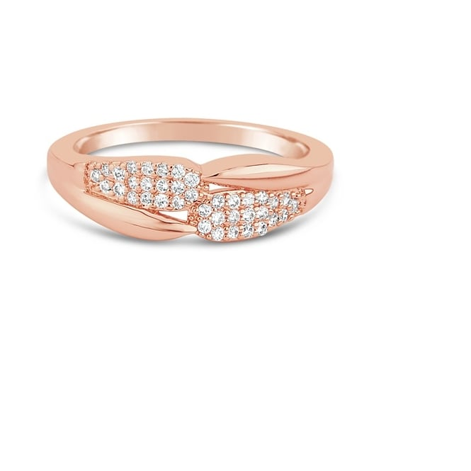Rose Gold Plated Ring with Crystal Stones