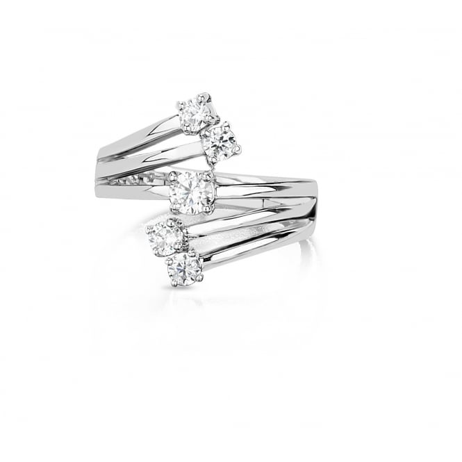 Unique 5 Stone Cubic Zirconia Ring
