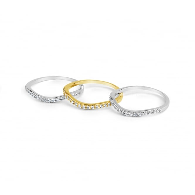 SALE PRICE Eternity Style Cubic Zirconia Triple Ring Set
