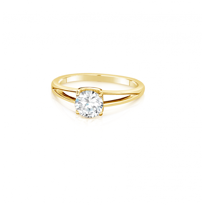 SALE PRICE Gold plated Classic Single Solitaire Cubic Zirconia Ring
