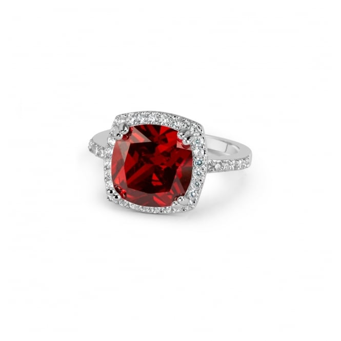 SALE PRICE Lovely Ruby Red Cubic Zirconia Ring