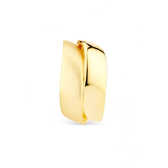 Stylish Gold Plated Clip on Earrings. 20mm Drop.