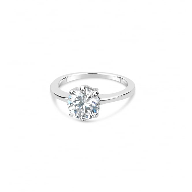 Classic Single Solitaire Cubic Zirconia Ring