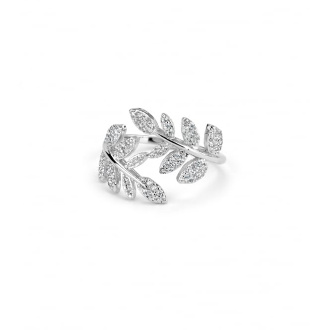 Lovely Leaf Style Cubic Zirconia Ring