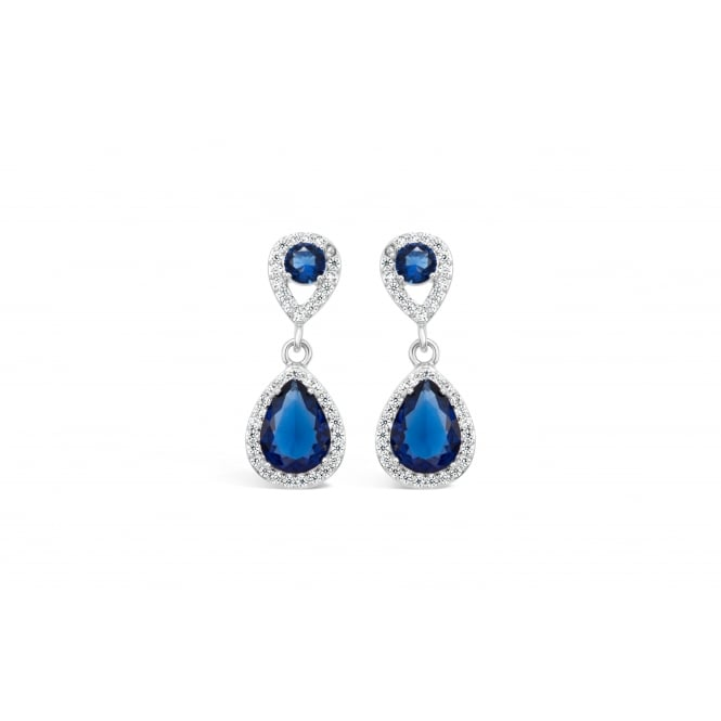 Imitation Rhodium Plated Earrings with White Cubic Zirconia and Glass Stones.
