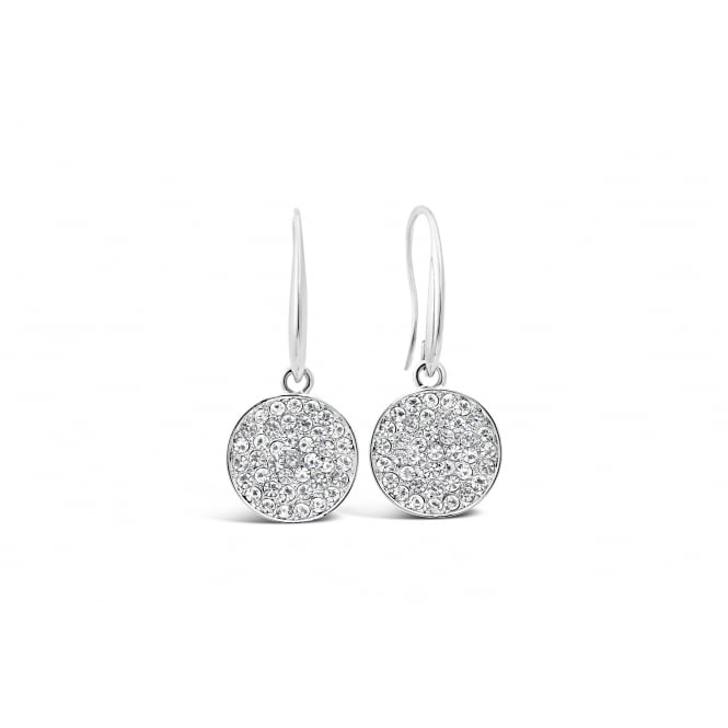 Price for Pack of Two. Imitation Rhodium Plated Earrings 34mm Drop