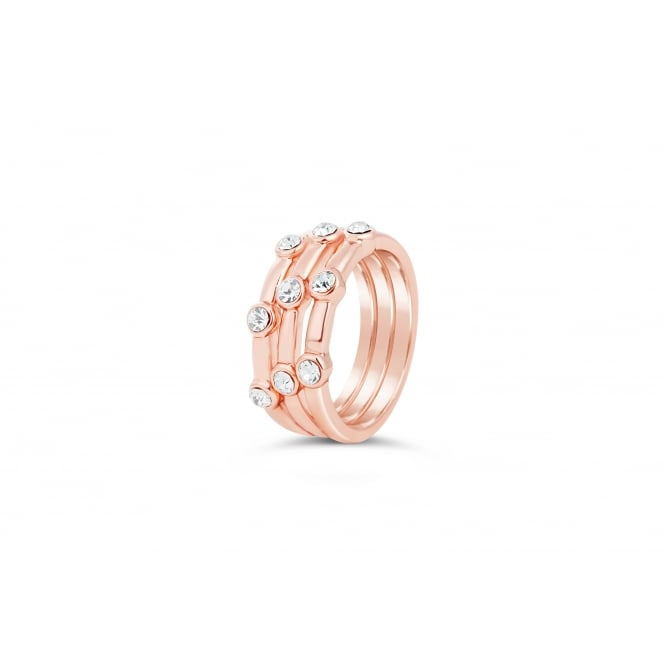 On Trend Rose Gold Plated Ring with Czech Crystals