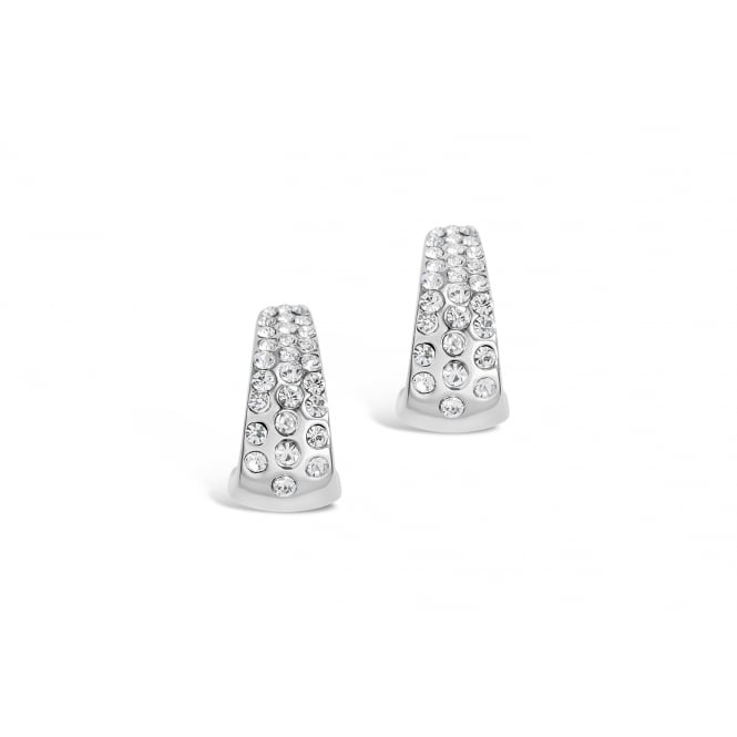 Beautiful Crystal Set Imitation Rhodium Plated Earrings.