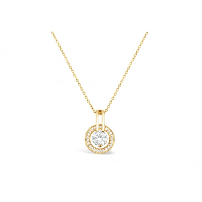 Delicate Gold Plated Crystal and Cubic Zirconia Set 16'' Long Necklace