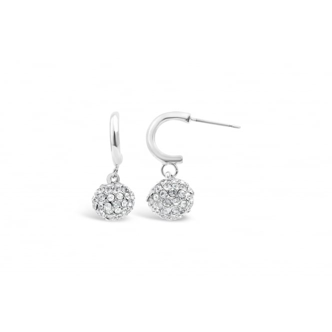 Classic Style Rhodium Plated Earrings 26mm Drop