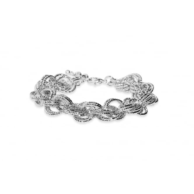 Chunky Chain Silver Plated Bracelet.