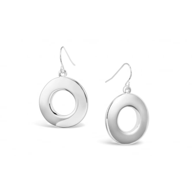 Fashionable Hoop Silver Plated Earrings