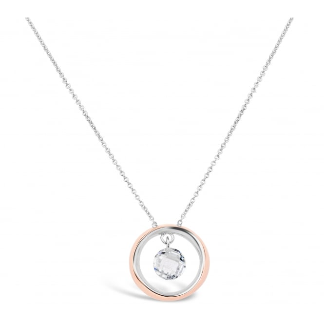 Beautiful Rose Gold and Rhodium Plated Necklace