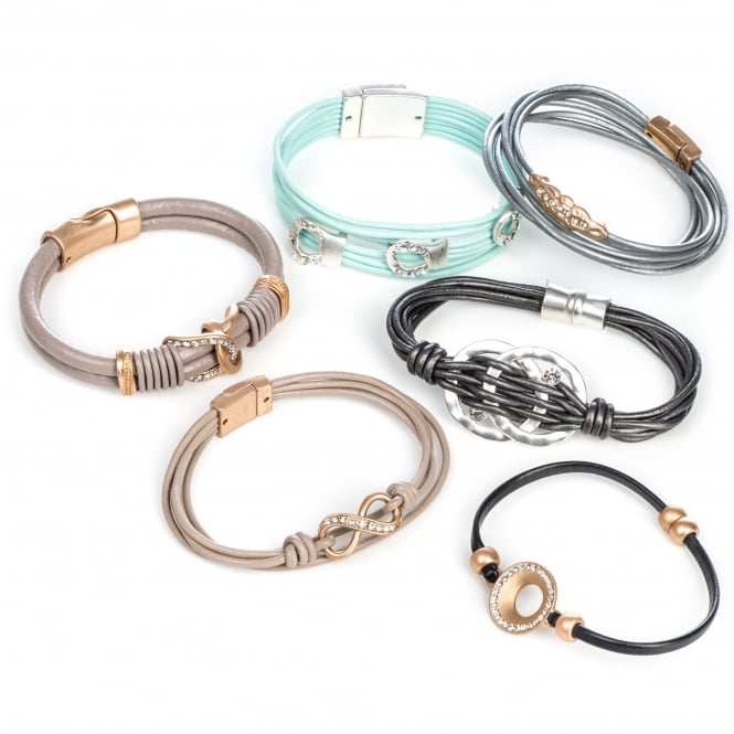 SALE PACK - 12 Assorted Leather Bracelets. ONLY £1.50 FOR EACH BRACELET!