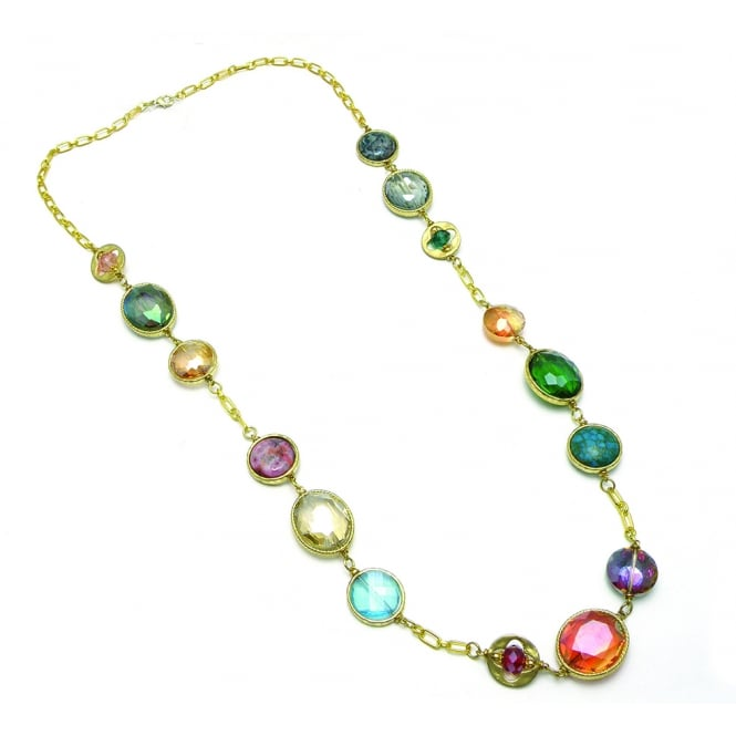 Price for Pack of 2 Beautiful 40 inch Necklace featuring semi precious stones . Pouch
