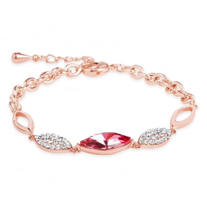 DELICATE ROSE GOLD PLATED LINK BRACELET .