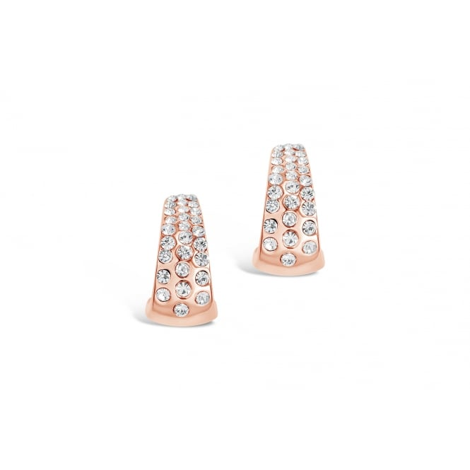 Beautiful Crystal Set Rose Gold Plated Earrings.