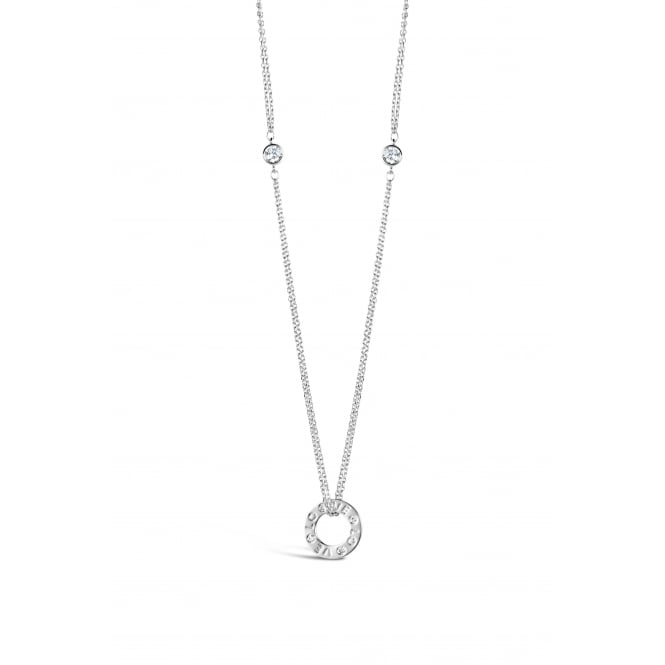 Rhodium Plated 15.5'' Long Cubic Zirconia Necklace